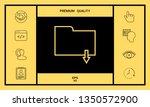 download folder   line icon   Shutterstock .eps vector #1350572900