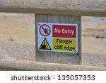 Cliff Edge Danger Sign