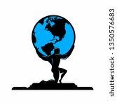 atlas holds the world   Shutterstock .eps vector #1350576683