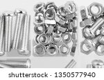 bolt and nut in plastic... | Shutterstock . vector #1350577940