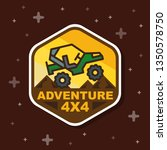 off road 3x3 adventure badge... | Shutterstock .eps vector #1350578750