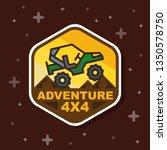 off road 3x3 adventure badge... | Shutterstock .eps vector #1350578750