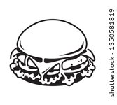 graphic hamburger  vector | Shutterstock .eps vector #1350581819