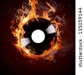 Burning Vinyl Disc Hot Hits