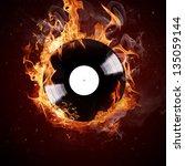 Burning Vinyl Disc Hot Hits
