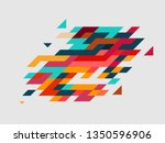 vector colorful geometric for... | Shutterstock .eps vector #1350596906