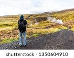 reykjadalur  iceland hveragerdi ... | Shutterstock . vector #1350604910