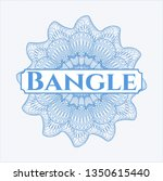 light blue money style emblem... | Shutterstock .eps vector #1350615440