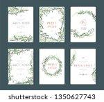wedding invitation  floral...   Shutterstock .eps vector #1350627743