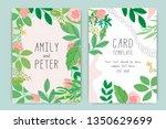 wedding invitation  floral... | Shutterstock .eps vector #1350629699