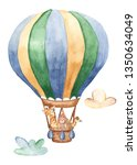 Watercolor Card With A Balloon...