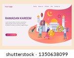 landing page template ramadan... | Shutterstock .eps vector #1350638099
