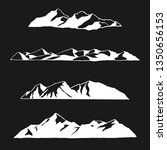 hand drawn mountains   vector... | Shutterstock .eps vector #1350656153