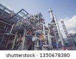 heat exchangers in a refinery....   Shutterstock . vector #1350678380