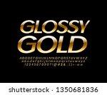 vector glossy gold alphabet... | Shutterstock .eps vector #1350681836