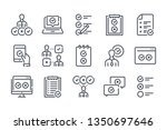 survey related line icon set....