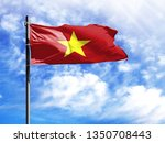 National Flag Of Vietnam On A...