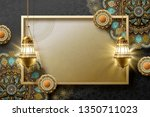 islamic art background with... | Shutterstock .eps vector #1350711023