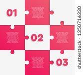 nine pieces puzzle squares...   Shutterstock .eps vector #1350716330