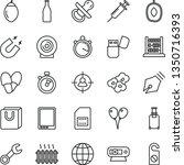 thin line vector icon set  ... | Shutterstock .eps vector #1350716393