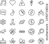 thin line vector icon set  ... | Shutterstock .eps vector #1350718016