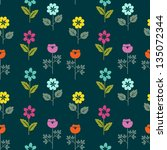 seamless floral pattern with... | Shutterstock .eps vector #135072344