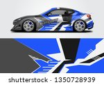 livery decal car vector  ... | Shutterstock .eps vector #1350728939