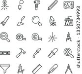 thin line vector icon set  ... | Shutterstock .eps vector #1350734993