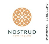abstract flower swirl logo icon ... | Shutterstock .eps vector #1350736349