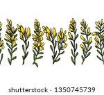 vector horizontal seamless... | Shutterstock .eps vector #1350745739