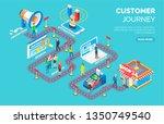 customer journey vector  road... | Shutterstock .eps vector #1350749540