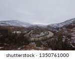 munzur valley with snow ... | Shutterstock . vector #1350761000