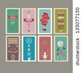 abstract  vector  background set | Shutterstock .eps vector #135077150