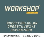 vector latin uppercase alphabet ... | Shutterstock .eps vector #1350791543