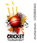live cricket poster or banner... | Shutterstock .eps vector #1350800363