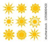 sun icin collection. vector...   Shutterstock .eps vector #1350800420