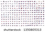 very big collection of vector... | Shutterstock .eps vector #1350805313