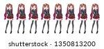 anime manga girl  cartoon...   Shutterstock .eps vector #1350813200