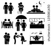 lover couple boyfriend... | Shutterstock .eps vector #135081650