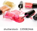color nail polish | Shutterstock . vector #135082466