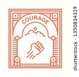 courage icon concept | Shutterstock .eps vector #1350834329