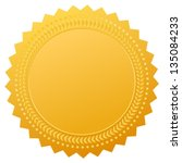 blank gold seal  vector clip art | Shutterstock .eps vector #135084233