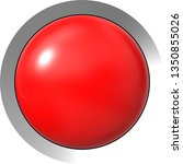 web button 3d   red glossy... | Shutterstock . vector #1350855026