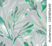 seamless pattern of leaves.... | Shutterstock . vector #1350856640