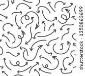 hand drawn arrows seamless... | Shutterstock .eps vector #1350863699