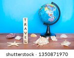 travel and holiday concept ... | Shutterstock . vector #1350871970