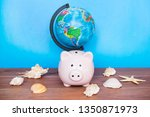 travel and holiday concept ... | Shutterstock . vector #1350871973