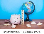 travel and holiday concept ... | Shutterstock . vector #1350871976