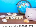 travel and holiday concept ... | Shutterstock . vector #1350871979