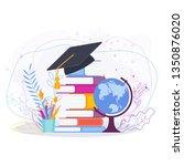 graduation vector concept on... | Shutterstock .eps vector #1350876020